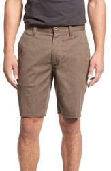 Brixton Men's 'Toil Ii' Chino Shorts Heather Brown