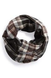 Junior Women's David And Young Plaid Infinity Scarf