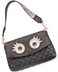 Betsey Johnson Xox Trolls Convertible Clutch With Eyes Only At Macy's Black