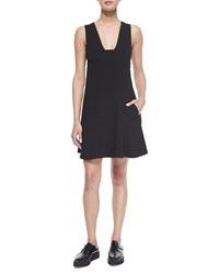 T By Alexander Wang Plunge Neck A Line Dress Black Size 6