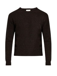 Christophe Lemaire Crew Neck Wool Sweater Navy Multi