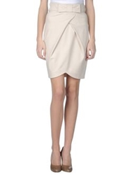 Vdp Collection Knee Length Skirts Ivory