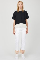 Opening Ceremony Oc Rework Feather Trim Jeans White