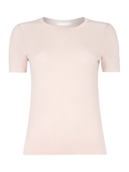 Hugo Boss Fabila Textured Twinset Tee Knit Pink
