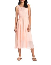 Plenty By Tracy Reese Embroidered Shirred Waist Dress Bellini