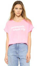 Wildfox Couture Mermaids Neon Boxy Fringe Tee Neon Sign