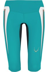 Lucas Hugh Molten Stretch Capri Leggings Green