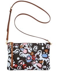 Fossil Sydney Top Zip Shoulder Bag Dark Floral