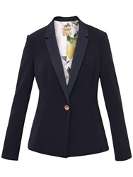 Ted Baker Zizig Ottoman Single Button Blazer Navy