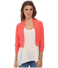 Rsvp Bre Shrug Coral Women's Sweater