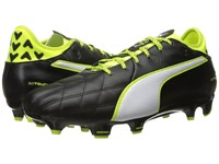 Puma Evotouch 3 Leather Fg Black White Safety Yellow Men's Shoes