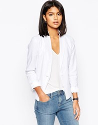 Asos Tailored Blazer In Linen White