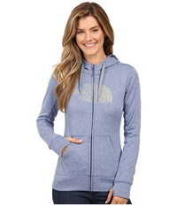The North Face Fave Half Dome Full Zip Hoodie Coastal Fjord Blue Heather Tnf Medium Grey Heather Women's Sweatshirt