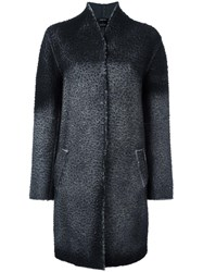 Avant Toi Pilling Effect Coat Black