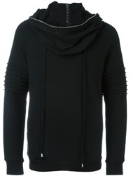 Unconditional Funnel Oversized Hoodie Black