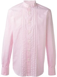 Ermanno Scervino Mandarin Collar Shirt Pink And Purple