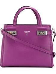 Serapian Mini 'Melina ' Tote Pink And Purple