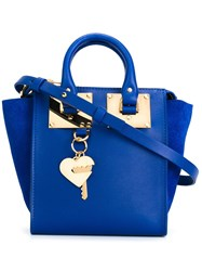 Sophie Hulme Heart Key Plaque Tote Blue