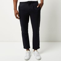 River Island Mens Navy Roller Dark Navy Slim Crop