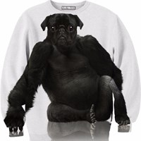 Aloha From Deer Pug O Rilla Sweater White