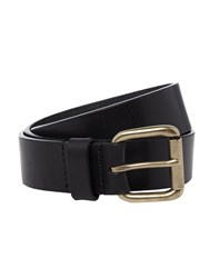 Linea Casual Leather Belt Navy