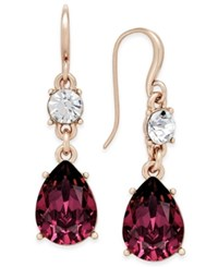Charter Club Colored Crystal Drop Earrings Only At Macy's Purple