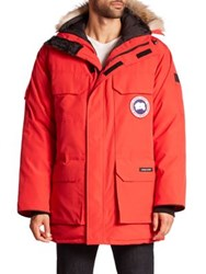 Canada Goose Expedition Coyote Fur Trimmed Jacket Red