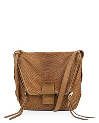 Kooba Priscilla Snake Embossed Shoulder Bag Compare At 328 Caramel