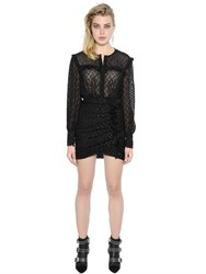Isabel Marant Ruffled Lurex Dotted Tulle Dress