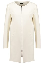 United Colors Of Benetton Short Coat Offwhite Off White