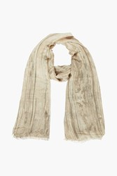 Boohoo Washed Effect Lightweight Scarf Brown