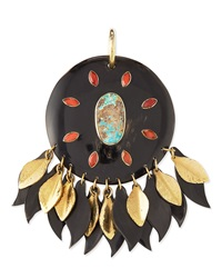 Ashley Pittman Ndoto Dark Horn Medallion Pendant