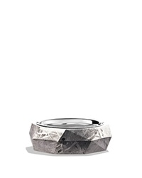 David Yurman Band Ring With Meteorite Silver Gray
