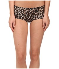 Hanky Panky Leopard Bare Boyshorts Brown Black Women's Underwear