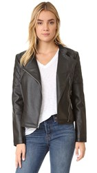 Bb Dakota Pierre Textured Moto Jacket Black