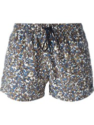 Fendi Granite Print Swim Shorts Multicolour