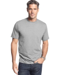 John Ashford Big And Tall Short Sleeve Crew Neck T Shirt Light Grey Heather