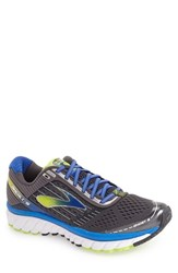 Brooks Men's 'Ghost 9' Running Shoe Anthracite Blue Lime Punch