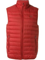 Armani Jeans Sleeveless Down Jacket Red
