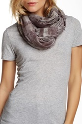 Leigh And Luca Multicolor Plaid Coal Scarf Gray