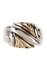 Dani G Jewelry 14K Gold And Sterling Silver Engraved Ring Metallic