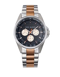 Ted Baker Mens Two Tone Multifunction Chronograph Watch Two Tone Rose Gold