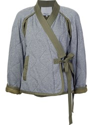 3.1 Phillip Lim Quilted Kimono Jacket Grey