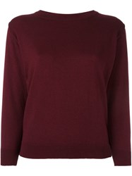 Edamame London 'Susie' Relaxed Fit Jumper Red