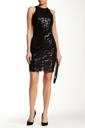 Alexia Admor Sequined Bodycon Dress Black