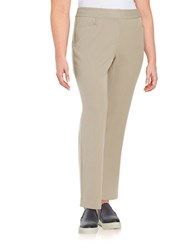 Rafaella Plus Plus Straight Leg Dress Pants Brown