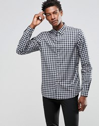 Paul Smith Shirt With Check In Tailored Slim Fit Navy