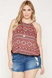 Forever 21 Plus Size Ornate Print Cami