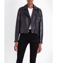 Rag And Bone Mercer Leather Biker Jacket Black