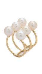 Kacey K Stack Ring With Cultured Freshwater Pearls Pearl Gold